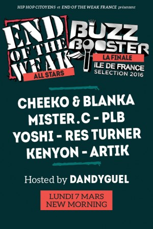 END OF THE WEAK DREAM TEAM x BUZZ BOOSTER IDF FINALE - Live!! @ New Morning | Paris | Île-de-France | France